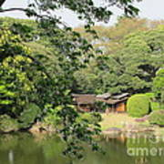 the old Japanese House by the water Art Print