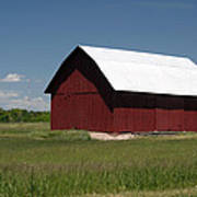 The Old Red Barn Art Print
