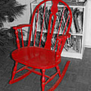 The Old Red Rocking Chair Art Print
