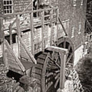 The Old Saw Mill Print by Edward Fielding