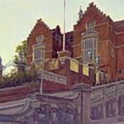 The Old Schools, Harrow Oil On Canvas Art Print