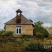 The Old Shell Schoolhouse Art Print