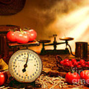 The Old Tomato Farm Stand Art Print by Olivier Le Queinec