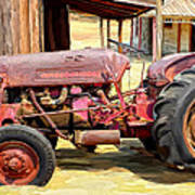 The Old Tractor Art Print by Michael Pickett