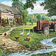 The Old Tractor Art Print