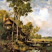 The Old Windmill Near Barbizon Art Print