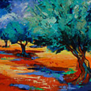 The Olive Trees Dance Art Print