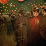 The Open Air Party Art Print by Ramon Casas i Carbo