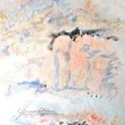 The Orange Bluffs Art Print