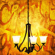 The Orange Lamp Art Print