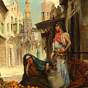 The Orange Seller Print by Fabbio Fabbi