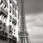The Other View Of The Eiffel Tower Art Print