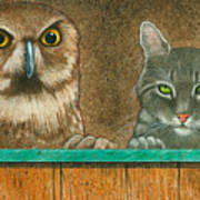 The Owl And The Pussycat... Art Print