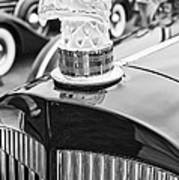 The Packard Eagle Hood Ornament At The Concours D Elegance. Art Print