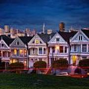 The Painted Ladies Of San Francsico Art Print