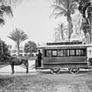The Palm Beach Trolley Art Print