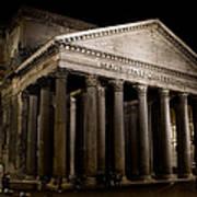 The Pantheon At Night Art Print