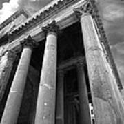 The Pantheon In Rome Bw Art Print