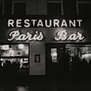 The Paris Bar Art Print