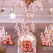 The Paris Market - Savannah Georgia Paris Market - Paris Market Shoppe - Paris Brocante Chandeliers Art Print by Kathy Fornal