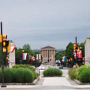 The Parkway And Art Museum Art Print