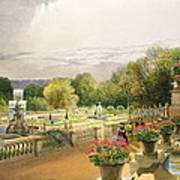 The Parterre Harewood House Near Leeds Art Print