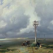 The Passage Du Gois At Noirmoutier, 1859 Oil On Canvas Art Print