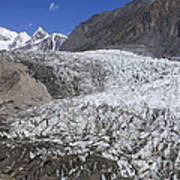 The Passu Glacier And Mountains Art Print