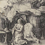 The Penitent Mary Magdalene, Antonie Wierix II Art Print