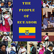 The People Of Ecuador Collage Art Print