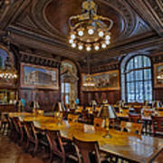 The Periodical Room At The New York Public Library Print by Susan Candelario