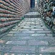 The Perspective Of Bricks Art Print