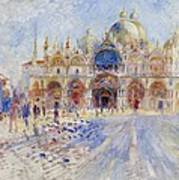 The Piazza San Marco Art Print by Pierre Auguste Renoir