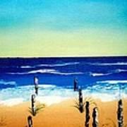 The Picket Beach Art Print