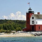 Round Island Lighthouse Mackinac The Picnic Spot Art Print