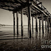 The Pier At Cayucos Art Print