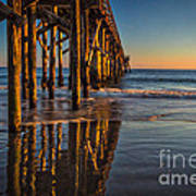 The Pier At Goleta Beach Art Print