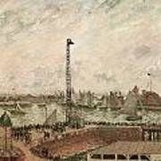 The Pilot's Jetty Le Harve Mornig Grey Weather Misty Print by Camille Pissarro