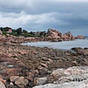 The Pink Granite Coast Brittany Art Print