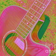 My Pink Guitar Pop Art Art Print