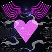 448 - The Pink Heart 2   Art Print