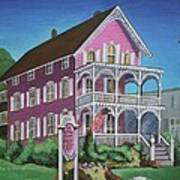 The Pink House In Cape May Art Print