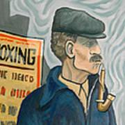 The Pipe Smoker Art Print