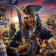 The Pirate Art Print by Adrian Chesterman