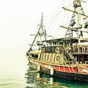 The Pirate Ship. Art Print
