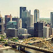 The Pittsburgh Skyline Art Print