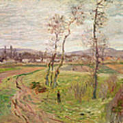 The Plain At Gennevilliers Print by Claude Monet