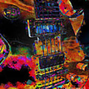 The Player - Guitar Art Art Print