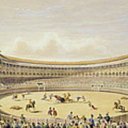 The Plaza De Toros Of Madrid, 1865 Art Print