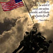 The Pledge Of Allegiance - Iwo Jima 20130211v2 Art Print